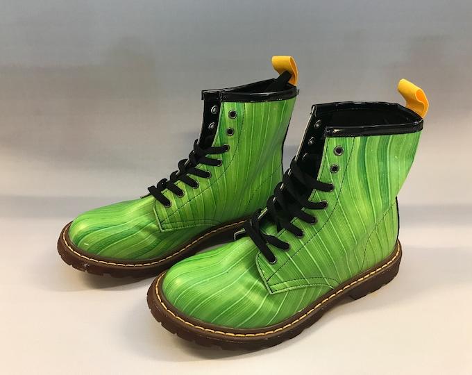 Doc Marten Style boots:  Atlanta Botanical Gardens, leaf print