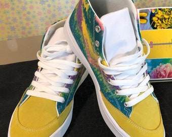 High top sneakers abstract print sz. 8