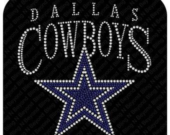 9e97cafec Dallas Cowboys Rhinestone Bling Shirt