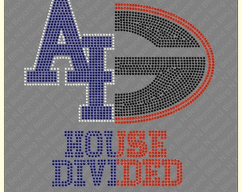 Custom House Divided Shirts.. You give us the logos and we make the bling - Air Force - Georgetown