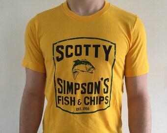 Detroit Archive Co. Scotty Simpsons Fish & Chips T-Shirt