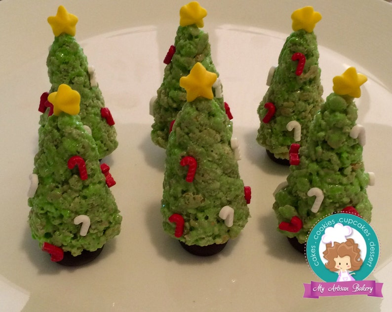 3d Christmas Trees Rice Crispy Treats