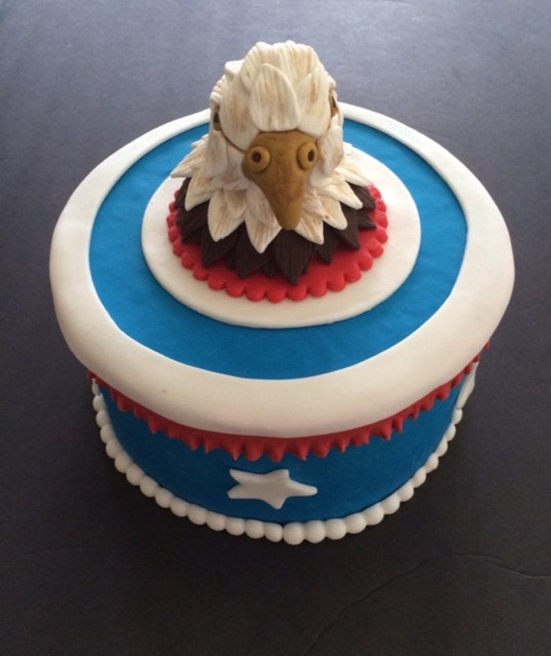 Eagle fondant cake topper | Etsy