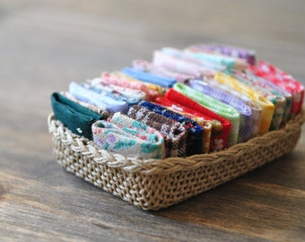 1:12th Scale Dollshouse Miniature Haberdashery Basket - Fat Quarter