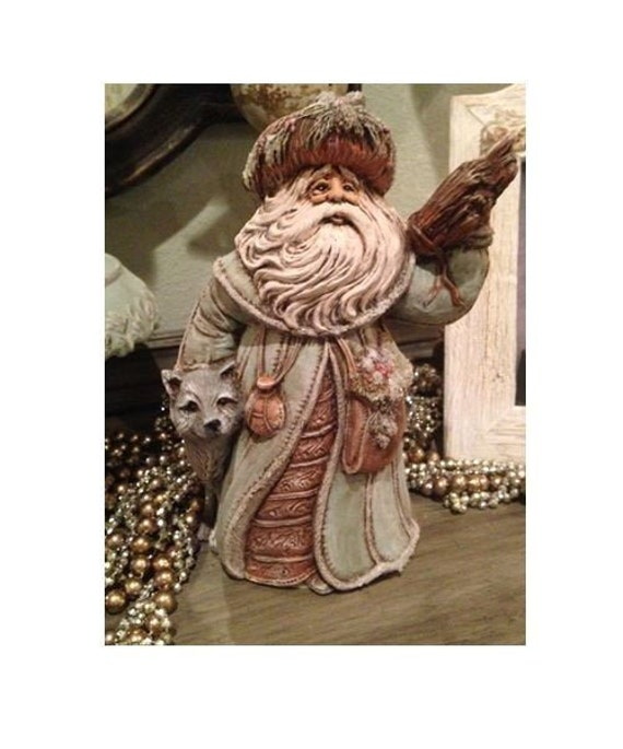 10 Inches Old World Santa with Teddy Bears Ready to Paint Ceramic Bisque