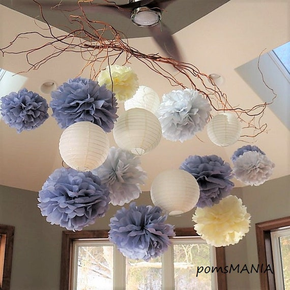 10+20 handmade units of tissue paper pom poms lots of colours to choose from Set of 30