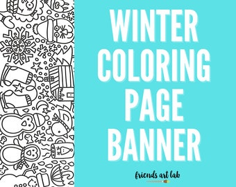 WINTER Coloring Page Banner