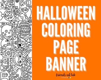 HALLOWEEN Coloring Page Banner