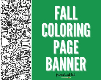 FALL Coloring Page Banner