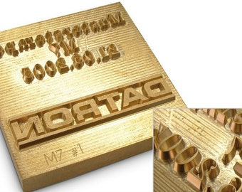 BIG SALE 8mm Thick Custom Personalized Brass Metal Emboss Branding Iron Stamp Leather /& Wood or Handle *Client provide engrave-ready artwork
