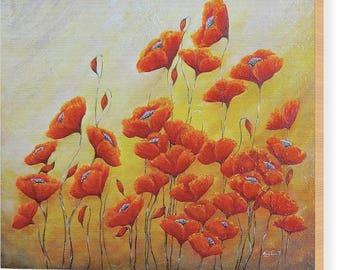 Poppy art etsy wooden poppy art ready to hang wood flower art art on wood poppies print artwork by nancy quiaoit on wooden maple mightylinksfo