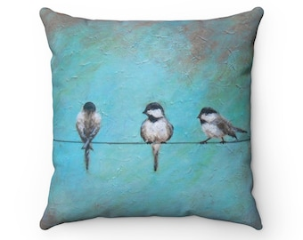 Birds On Wire Pillow Etsy