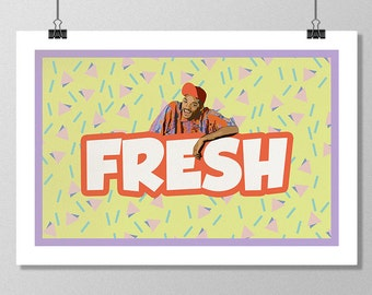 """THE FRESH PRINCE of Bel-Air Inspired Minimalist Poster Print - 13""""x19"""" (33x48 cm)"""