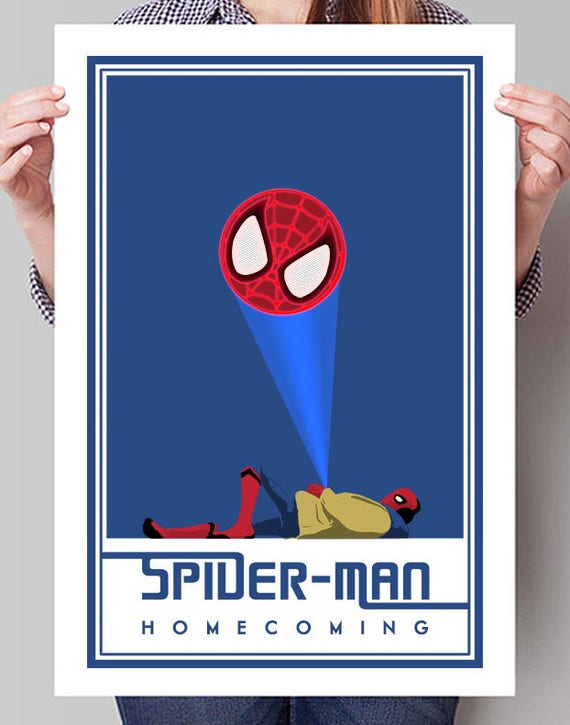 Christmas Homecoming Ideas.Spider Man Homecoming Signal Movie Poster Minimalist Wall Art College Student Dorm Decor Gift For Him Christmas Ideas Holiday Idea