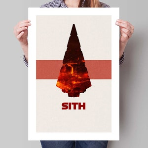 Star Wars Inspired Revenge Of The Sith Minimalist Movie Poster Etsy