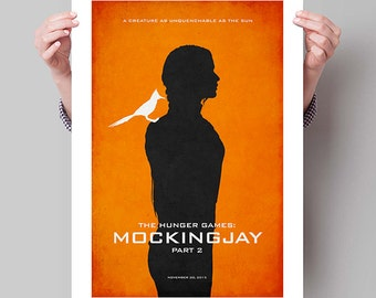 "THE HUNGER GAMES Inspired Mockingjay Part 2 Minimalist Movie Poster Print - 13""x19"" (33x48 cm)"