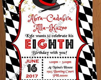 Magic Party Invitation - Magic Birthday Invitation - Magic Invitation Printable - Magician Invitation - Magician invite - CraftyCreationsUAE