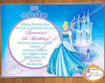 Cinderella invite Etsy