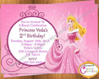 Princess Aurora Invitation - Princess Aurora Birthday - Princess Aurora Party - Sleeping Beauty Princess Aurora - CraftyCreationsUAE