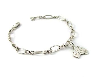 Sterling Silver Charm Bracelet, Silver Bracelet,Charm Bracelet,Australia Charm Bracelet,Australia Charm,Silver Charm