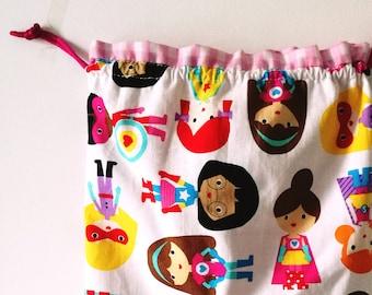 Drawtring pouch multiporpuse bag Uniconrs Drawstring bag snack bag Reusable bag kids bag unicorn gift bag