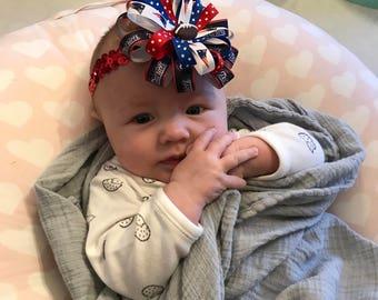 New England Patriots Baby Headband
