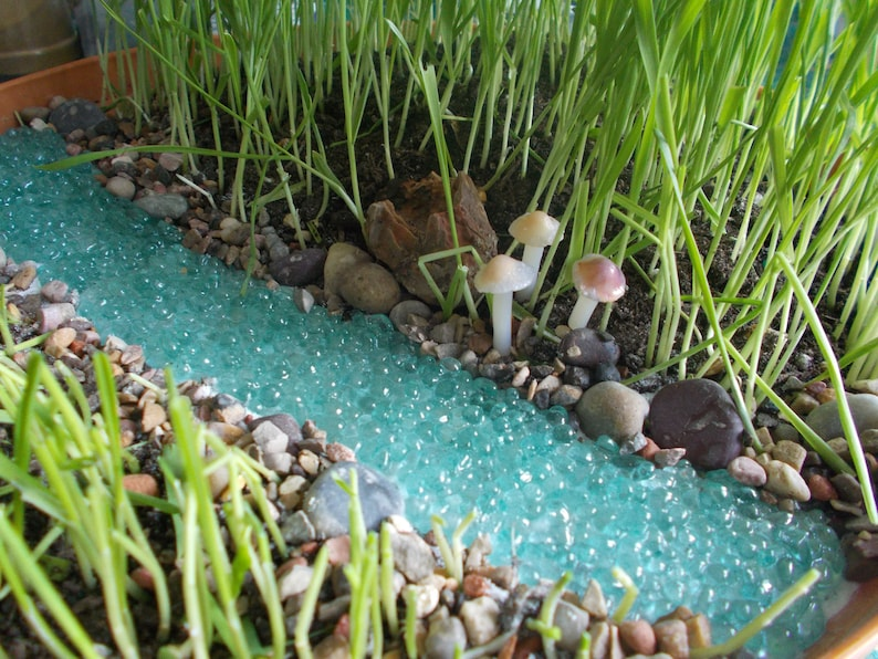 Bubbling River or River with Pond Miniature Garden Fairy image 0