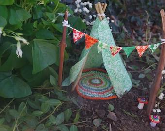 Irish Celtic Fairy Garden Teepee LIMITED EDITION