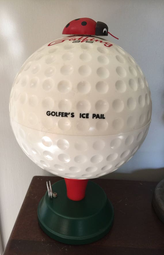 golfers ice pail golf ball ice bucket etsy