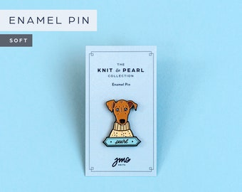 Pearl's Sweater Enamel Pin | Knit & Pearl Collection