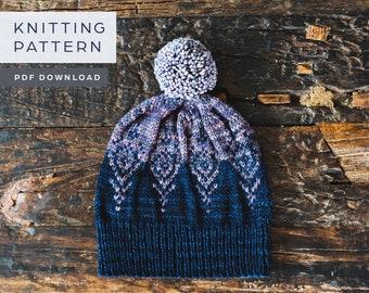 Winter Crystal Hat | Knitting Pattern | PDF download