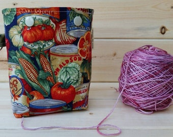 Canned Vegetables Ball Sack for up to DK Weight -- Yarn Holder for Inside Project Bags Handmade