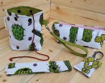 Knitter's Favorites Accessories Kit -- Cactus -- Handmade