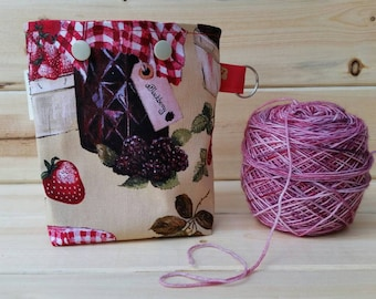 Jam Ball Sack for up to DK Weight -- Yarn Holder for Inside Project Bags Handmade