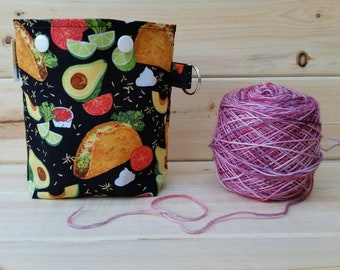 Tacos Ball Sack for up to DK Weight -- Yarn Holder for Inside Project Bags Handmade