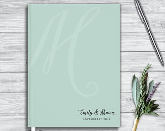 Wedding Guest Book. Bridal Shower guest book. Personalized journal.