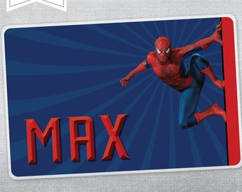 SPIDERMAN b PERSONALISED PLACEMAT
