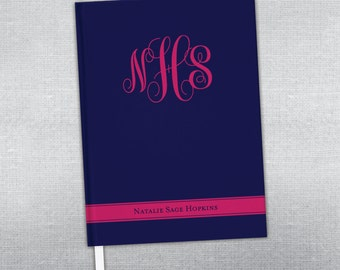 Personalized journal. Hard bound journal.
