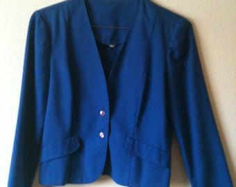 Blaze of Glory 80s Style Blue Blazer