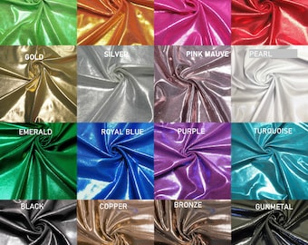 Nylon 4 Ways Stretch Shiny Mystic Finger Foil Fabric Design - 58 to 60 Inches Wide