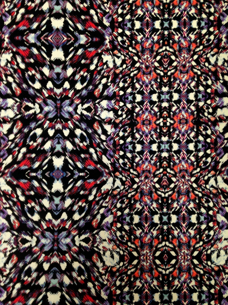 3b8e35d3688 Kaleidoscope Geometric Print on Stretch ITY Knit Jersey | Etsy