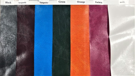 """55/"""" W Sold BTY Vinyl Fabric Faux Leather Distressed OX Skin Upholstery RED"""