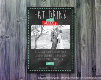 Eat Drink and Be Merry Holiday Party Invitation   HP_WIN9