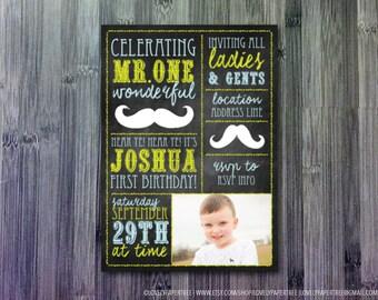 Gentleman Birthday Invitation | Mr. Wonderful Invitation |   KB49