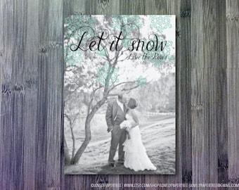 Let it snow photo card | HC19