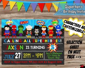 superhero invitation etsy