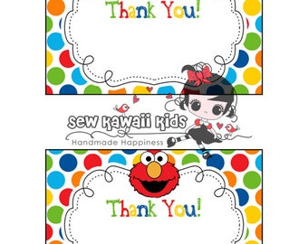 Pre Made BLANK Elmo Thank You Card Matches Any Of My Birthday Invitations
