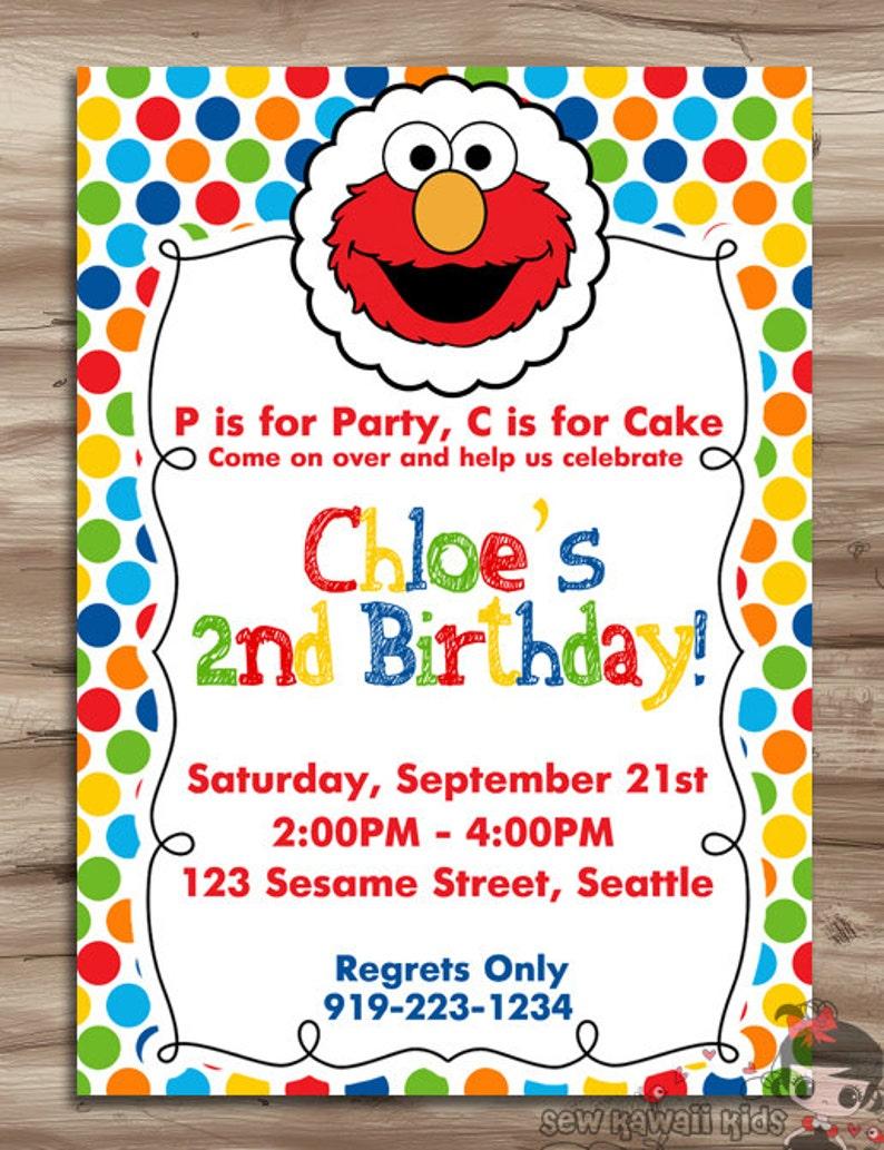 1d67edbf ELMO Birthday Invite Elmo Birthday Invitation Sesame Street | Etsy