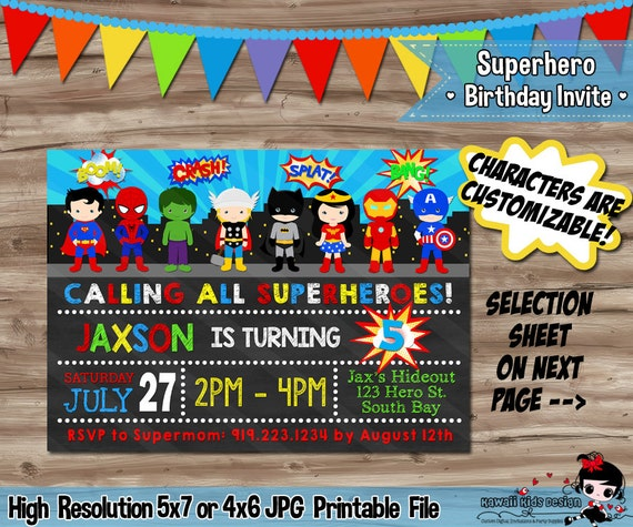 superhero invitation superhero invitation superhero invitation etsy