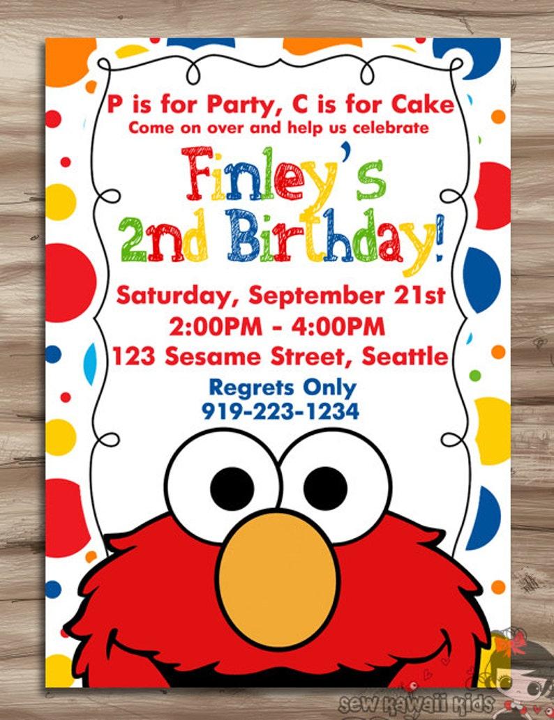 3361b2dd ELMO Invitation Elmo Invitation Elmo Birthday Invite Sesame | Etsy